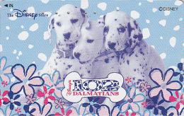 Rare Télécarte Japon DISNEY STORE / 110-212375 - 101 DALMATIENS DALMATIANS Cinema - Japan Movie Phonecard  / 3000 - Disney