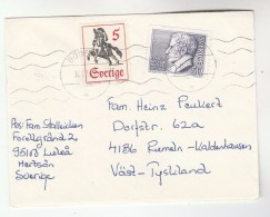 1972 SWEDEN COVER Stamps  FRANZEN Poet , HORSE To Germany, Poetry - Sweden