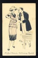 Carte Postale Illustree: Mr. Le Juge D'Instruction. Femme, Mode (Ref. 110993) - Autres Illustrateurs