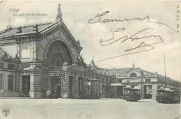 N-16 892 :  LIEGE LA GARE DES GUILLEMINS. TRAMWAY. - Liege