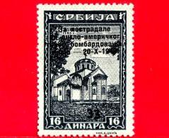 SERBIA - Usato - 1943 - Occupazione Tedesca - Sovrastampato - 16+33 - Serbia