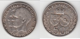 **** BELGIQUE - BELGIUM - BELGIE - 50 FRANCS 1960 MARRIAGE ROI BAUDOUIN ET FABIOLA - ARGENT - SILVER *** ACHAT IMMEDIAT - 1934-1945: Leopold III