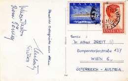 ATHEN LE PARTHENON - Fotokarte Gel.1950?, 2 Sondermarken - Griechenland
