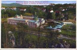 VRNTZI LES BAINS (Jugoslawien) - La Maison De Bains Yu De Loin, Gel.1930?, 2 Marken - Jugoslawien