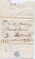 CTN35/2 - LAC SMYRNE / MARSEILLE PURIFIEE CACHET LAZARET - Marcophilie (Lettres)