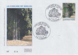 Enveloppe  FDC  1er  Jour    MAYOTTE     Cascade  De  SOULOU    1999