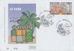 Enveloppe  FDC  1er  Jour    MAYOTTE     LE  DEBA    1999