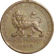 INGLATERRA. 1 PENNY TOKEN. 1.812. BRITISH COPPER COMPANY. ENGLAND. GREAT BRITAIN - C. 1 Penny