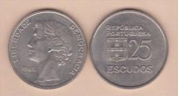 PORTUGAL  (República)  25 Escudos 1.986  Cu Ni  KM#610  MBC/VF    T-DL-11.343 - Portugal