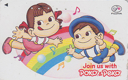 Télécarte Japon / 110-016 - PEKO & POKO / Arc En Ciel Rainbow - BD Comics Japan Phonecard Telefonkarte - BD