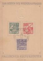 Pr. Sachsen Sonderblatt Minr.87A-89A SST Halle 31.3.46 - Sowjetische Zone (SBZ)