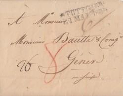 Brief L2 Stuttgart 22.5.1832 Gel. L2 Geneve 27.5.1832 - Deutschland