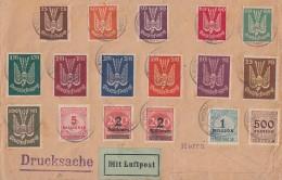 DR Brief Drucksache Luftpost Mif Minr.210-218,235-237,2x 309A,313,314,317 München 19.10.23 - Briefe U. Dokumente