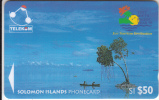 """SOLOMON ISL.(GPT) - Canoe-Paddling/Sikaiana(V Isit South Pacific Year """"95), CN : 03SIE, Used"""