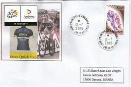 Tour De France 2016, étape Vielha Val D'Aran.Espagne / Andorre, 12 Juillet 2016,lettre équipe Etixx-Quick Step - Cartas