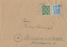 Bizone Brief Mif Minr.58II,70 Neustadt Bei Coburg 30.8.48 - Bizone