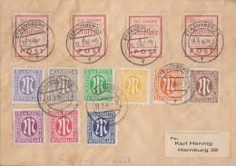 Lokalausgabe Strausberg  Brief Mif Minr.34A-37A, AM-Post Minr.1-9 Strausberg 31.3.46 - Bizone