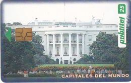 EL SALVADOR -  Washington/The White House, Capitals Of The World, Chip GEM 3.1, Used - El Salvador