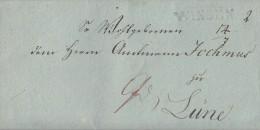 Brief L1 Winsen Gel. Am 14.7.1822 Nach Lüne Mit Inhalt - Deutschland