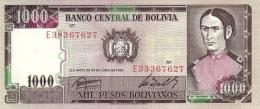 BOLIVIA 1000 PESOS BOLIVIANOS 1982 P-167c UNC SIGN. ROSSEL & ZALLES [BO167 3] - Bolivia