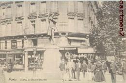 PARIS STATUE DE BEAUMARCHAIS ANIMEE 75004 - Arrondissement: 04