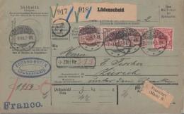 DR Paketkarte Für 2 Pakete Mif Minr.47, 3x 50 Lüdenscheid 1.9.99 Gel. In Schweiz - Deutschland