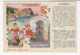 CALABRIA  Scilla Catanzaro Costume Calabrese       - 1932 Cartolina Pubblicità Valda - Non Classificati