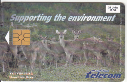 MAURITIUS ISL. - Mauritian Deer, First Issue With Chip, Tirage 30000, Used - Mauritius