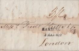 Brief L2 Hamburg 5.3.1822 Gel. Nach London Mit Ankunftsst. Ansehen !!!!!!!!!!!! - Deutschland
