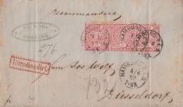NDP R-Brief Mef Minr.3x 16 K1 Hamburg 5.6.69 Gel. Nach Düsseldorf - Norddeutscher Postbezirk