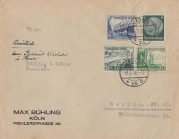 DR Brief Mif Minr.516,658, Zdr. Minr.W123 Köln 9.2.38 - Briefe U. Dokumente