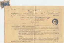 Quittung Für Ein Telegramm Vom 8.12.15 Mit Postst. Charlottenburg Selten !!!!!!!!!!! - Briefe U. Dokumente