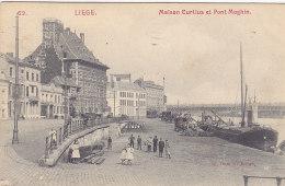 Liège - Maison Curtius Et Pont Maghin (E. Dumont, Animée, Tram Au Loin, 1908) - Liege
