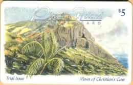 Pitcairn Isl. - PIT-1, Magnetic, Palm Tree, 5 $, 2000ex, 1998, Mint - Pitcairn Islands