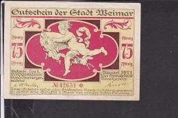 Notgeld Weimar 1921 - Lokale Ausgaben