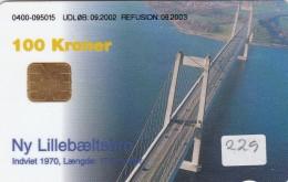 Denmark, DD 229A, Bridges, Lillebaeltsbroen, 29.954 Issued, 2 Scans. - Dänemark