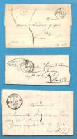 Nièvre - Nevers. 5 Lettres Avec Cachets/Marques Postales Tous Différents. - 1849-1876: Période Classique