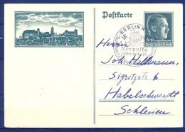 ALEMANIA 1938 , ENTERO POSTAL CIRCULADO DESDE BERLÍN , NORPOSTA , DIA DEL PARTIDO , HITLER , REICH. - Cartas