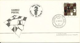 Brazil FDC CHESS 18-11-1980 With Cachet - Schaken
