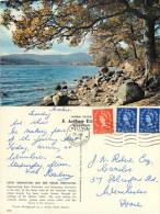 Loch Vennacher, Ben Venue, Perthshire, Scotland Postcard Posted 1961 Stamp - Perthshire