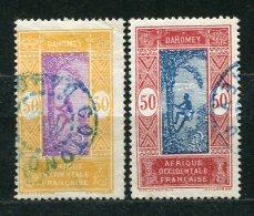 Dahome Nr.72 + 74       O  Used       (004) - Oblitérés