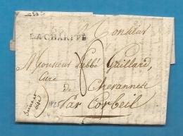 Nièvre - La Charité Pour Le Curé De Chevannes Par Corbeil. LAC De 1825 - Marcophilie (Lettres)