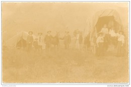 Katberg, Amathole - Picnic Party With Tents, Wagons And Horses - Real Photo Card 1908 - South Africa