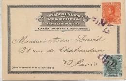 CTN35/2 - CPA A DESTINATION DE PARIS JANVIER 1900 - Venezuela