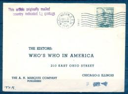 "1945 , SOBRE CIRCULADO ENTRE ESPAÑA Y WASHINGTON ,  "" THIS ARTICLE ORIGINALLY MAILED IN COUNTRY INDICATED BY POSTAGE "" - 1931-50 Covers"