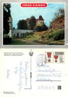 Hrad Kamen, Kamen, Czech Republic Postcard Posted 1987 Stamp - Czech Republic