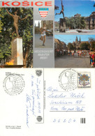 Marathon Running Race, Kosice, Slovakia Postcard Posted 1989 Stamp - Slovakia