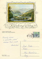 Karlovy Vary, Czech Republic Postcard Posted 1972 Stamp - Tchéquie