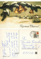 Christmas, Czech Republic Postcard Posted 1992 Stamp - Czech Republic