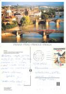 Prague Praha, Czech Republic Postcard Posted 1992 Stamp - Czech Republic